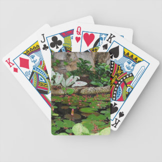 Botanical Nature Lily Pond Landscape Bicycle Playing Cards