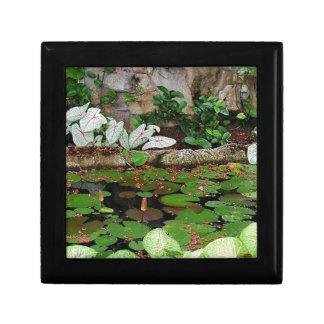 Botanical Nature Lily Pond Landscape Jewelry Box