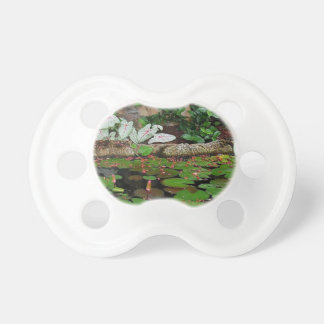 Botanical Nature Lily Pond Landscape Pacifier