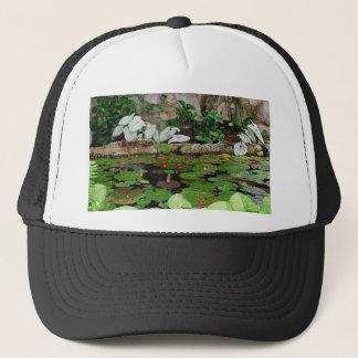 Botanical Nature Lily Pond Landscape Trucker Hat
