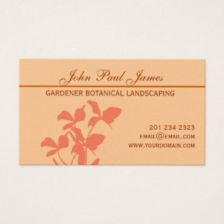 Botanical Orchid Floral   Illustration Business Card