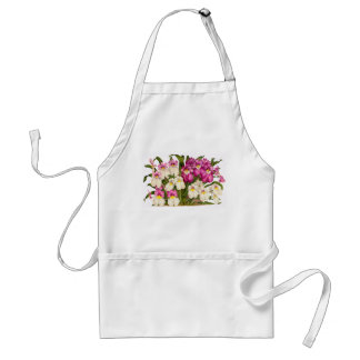 Botanical Orchid Flowers Floral Tropical Adult Apron