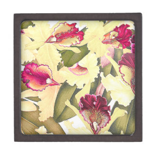 Botanical Orchid Flowers Floral Tropical Gift Box