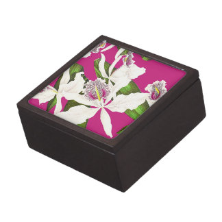 Botanical Orchid Flowers Floral Tropical Jewelry Box