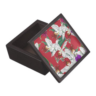Botanical Orchid Flowers Floral Tropical Keepsake Box