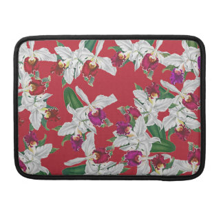 Botanical Orchid Flowers Floral Tropical MacBook Pro Sleeve
