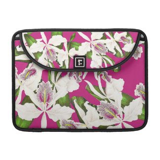 Botanical Orchid Flowers Floral Tropical MacBook Pro Sleeves