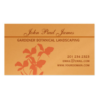 Botanical Orchid  Illustration Business Cards