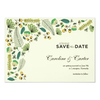 Botanical Pattern Save the Date Card