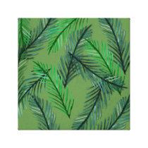 Botanical Pattern  Wrapped Canvas