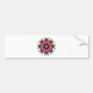Botanical Pink Lily Floral Mandala Bouquet Bumper Sticker