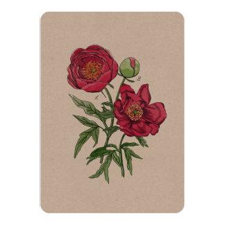 Botanical | Pink Peony flower Card
