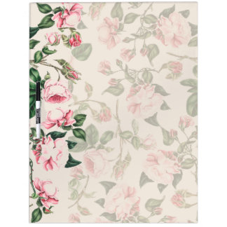 Botanical Pink Rose Flowers Floral Rosebud Board