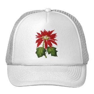 Botanical Poinsettia Cap Trucker Hat