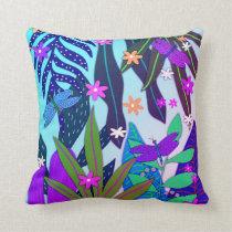 Botanical Print #13 Miami Throw Pillow
