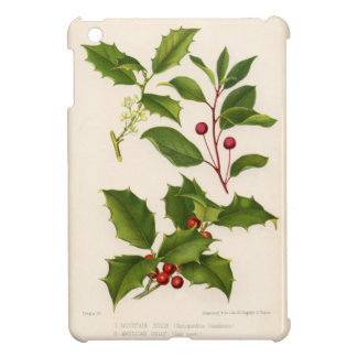 Botanical Print - Mountain & American Holly Case For The iPad Mini