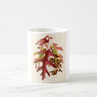 Botanical Print - Scarlet Oak (quercus coccinea) Classic White Coffee Mug