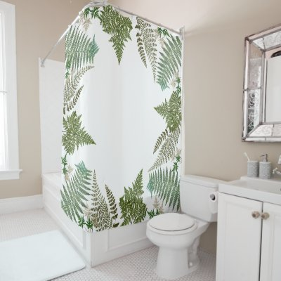 Tropical Philodendron Elephant Ear Leaves Leaf Art Shower Curtain    Zazzle.com