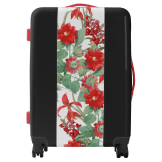 Botanical Red Flowers Floral Carry-On Luggage