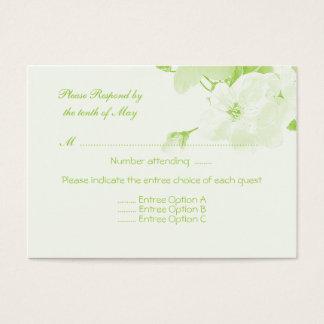 Botanical (Response Card) Business Card