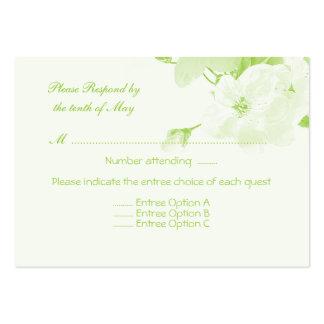 Botanical (Response Card) Large Business Card