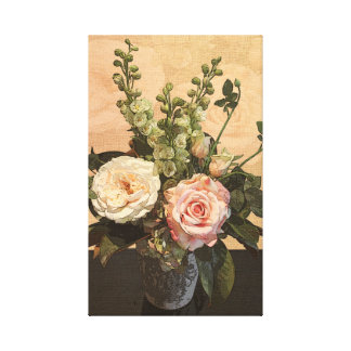 Botanical Rose Painting Canvas Print