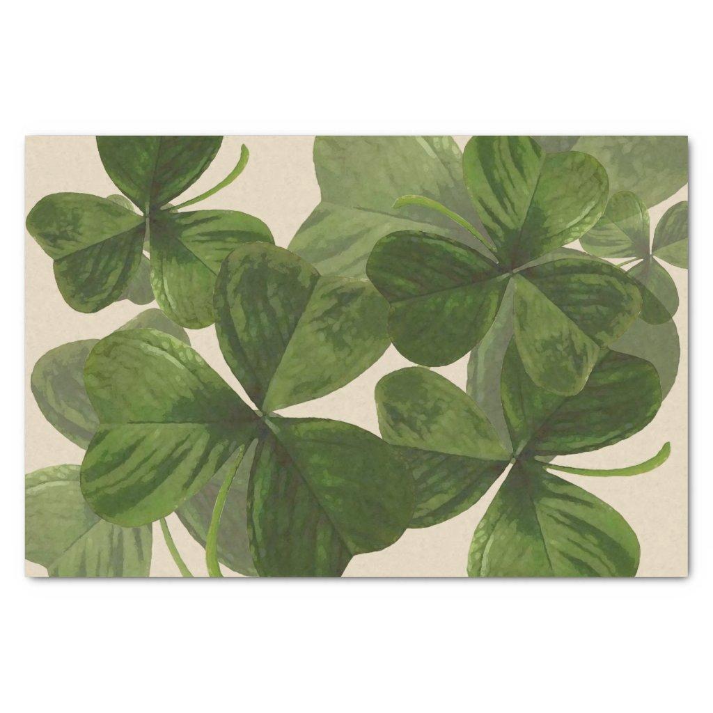 Botanical Shamrock Photos on Custom Color
