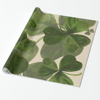 Botanical Shamrocks Photo on Custom Cream Color