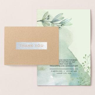Botanical | Silver Foil Wedding Thank You Cards