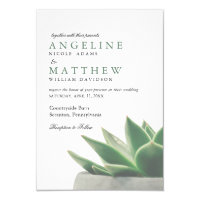 Botanical Succulent Garden | Wedding Invitation