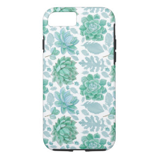 Botanical Succulent pattern, modern nature iPhone 8/7 Case