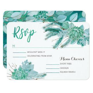 Botanical Succulent Rsvp Card