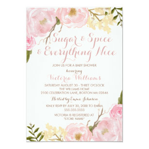 68fb22bf16d3 Botanical Sugar   Spice Girl Baby Shower Invite