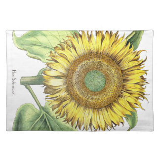 Botanical Sunflower Floral Flowers Place Mat