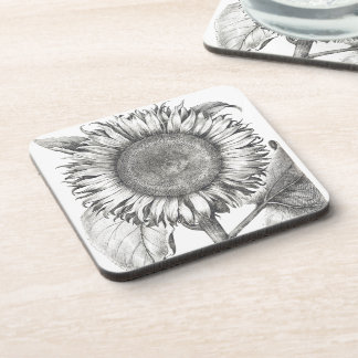 Botanical Sunflower Flower Floral Coaster