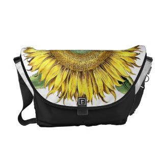 Botanical Sunflower Flower Floral Messenger Bag