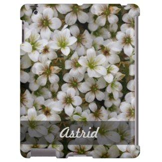 Botanical Sweet White Flowers Photo any Name