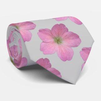 Botanical Tiled Pink Geranium Flower Photo