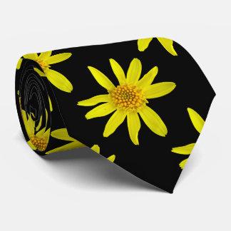 Botanical Tiled Yellow Wildflower Photo Neck Tie