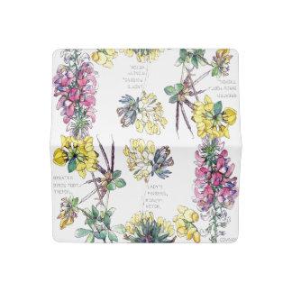 Botanical Vetch Flowers Checkbook Cover