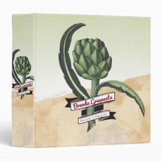 Botanical vintage artichoke recipe cookbook binder