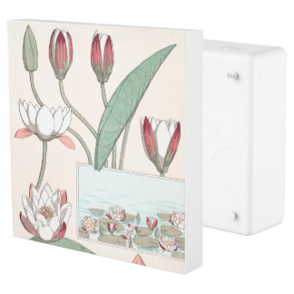 Botanical Water Lily Flowers Floral Outlet Cover