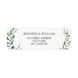 Botanical Watercolor olive branch return address Label