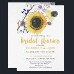 "Botanical Watercolor Sunflowers Bridal Shower Card<br><div class=""desc"">Botanical Watercolor Sunflowers Bridal Shower Invitations</div>"