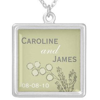 Botanical Wedding Date Necklace