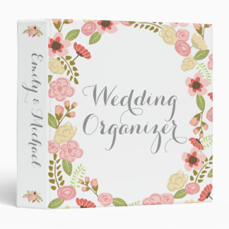 Botanical Wedding Organizer 3 Ring Binder