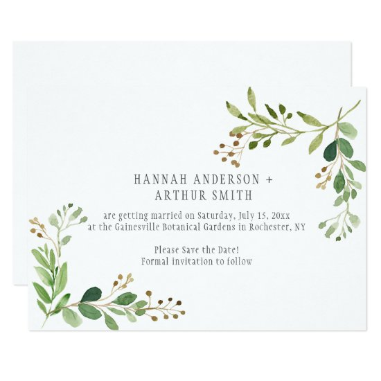 Botanical Wedding Save The Date Invitations |
