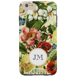 Botanical wildflower summer garden monogram tough iPhone 6 plus case