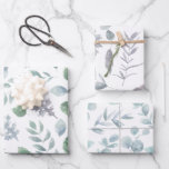 Botanical Wrapping Paper Flat Sheet Set of 3