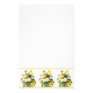 Botanical Yellow and Purple Violets Stationery